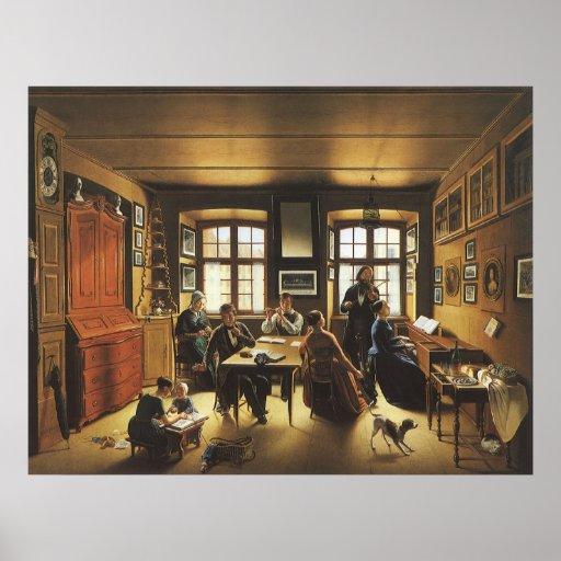 Victorian Art, Basel Family Concert by Gutzwiller Poster