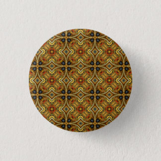 Victorian Art Deco Medieval Pattern Gold Design 3 Cm Round Badge