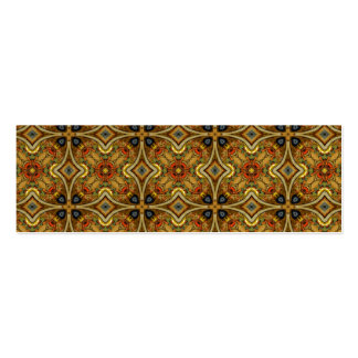 Victorian Art Deco Medieval Pattern Gold Design Business Card