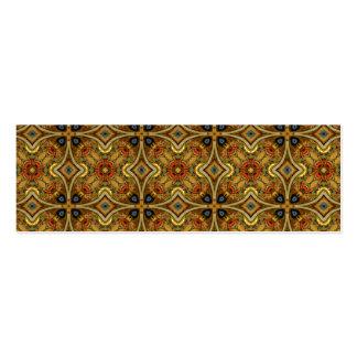Victorian Art Deco Medieval Pattern Gold Design Business Card