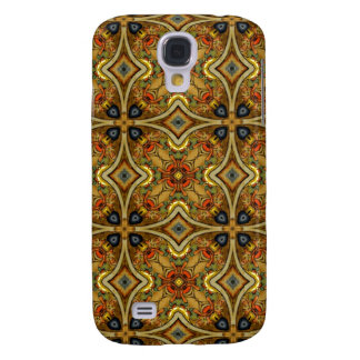 Victorian Art Deco Medieval Pattern Gold Design Galaxy S4 Case