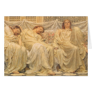 Victorian Art, Dreamers by Albert Joseph Moore Greeting Card