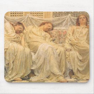Victorian Art, Dreamers by Albert Joseph Moore Mouse Mat