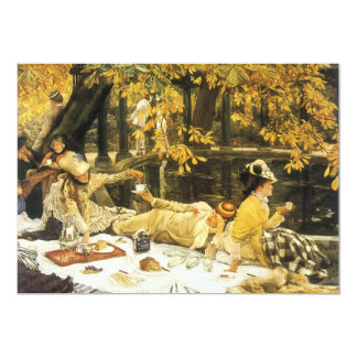 Victorian Art, Holyday, The Picnic by James Tissot Card
