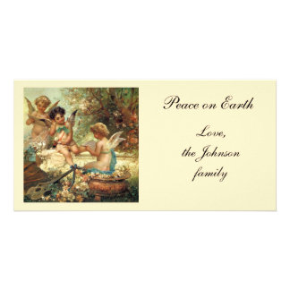 Victorian Art, Musician Angels by Hans Zatzka Customised Photo Card