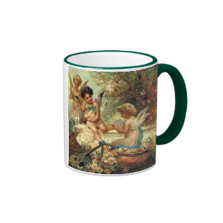 Victorian Art, Musician Angels by Hans Zatzka Ringer Mug