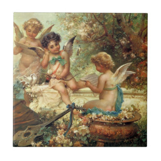 Victorian Art, Musician Angels by Hans Zatzka Tile