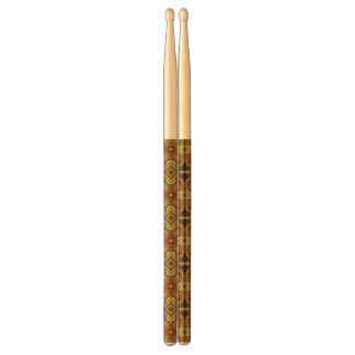 Victorian Art Nouveau Abstract Pattern Gold Drumsticks