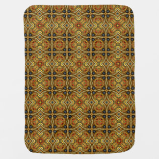 Victorian Art Nouveau Medieval Pattern Gold Baby Blanket