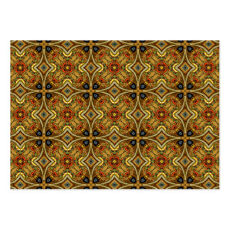 Victorian Art Nouveau Medieval Pattern Gold Business Card