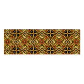 Victorian Art Nouveau Medieval Pattern Gold Business Cards