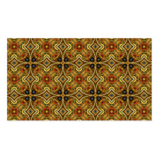 Victorian Art Nouveau Medieval Pattern Gold Business Card Template