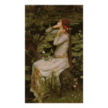 Victorian Art, Ophelia by the Pond by Waterhouse Poster