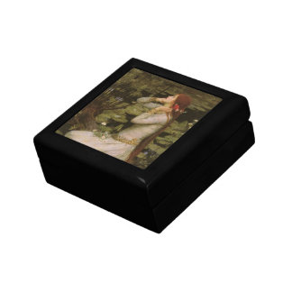 Victorian Art, Ophelia by the Pond by Waterhouse Small Square Gift Box