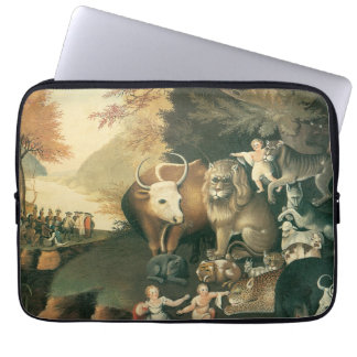 Victorian Art, Peaceable Kingdom by Edward Hicks Laptop Computer Sleeves