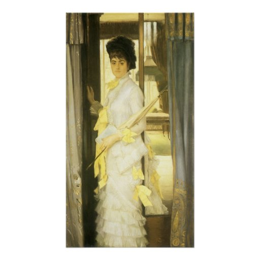 Victorian Art, Portrait of Miss Lloyd by Tissot Poster