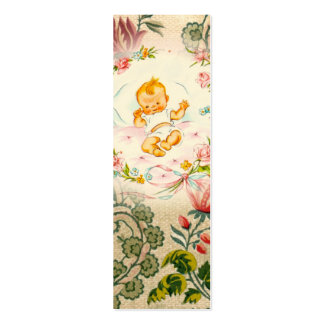 Victorian baby bookmark business card