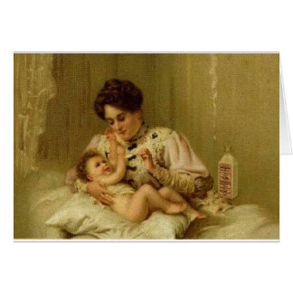 Victorian Baby Greeting Card