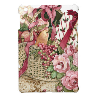 Victorian Basket of Fruit & Pink Roses iPad Mini Case