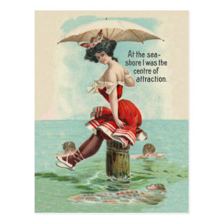 Victorian Bathing Beauty Postcard