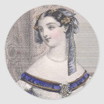 Victorian Beauty by Jules David - Gorgeous Face! Round Sticker