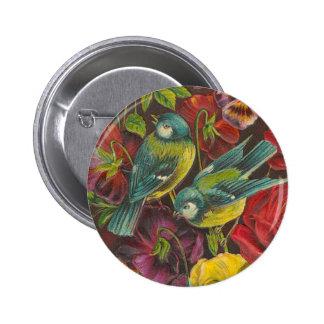 Victorian Bird Button