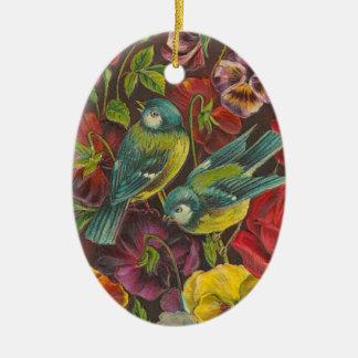 Victorian Bird Christmas Ornament