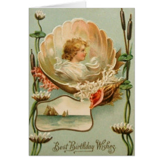 Victorian Birthday Greeting Card
