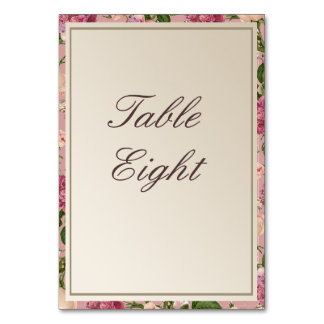 Victorian Botanical Style Table Names / Numbers Card