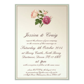 Victorian Botanical Style Wedding Invitation