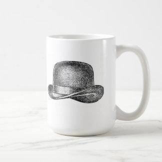 Victorian Bowler Hat Basic White Mug