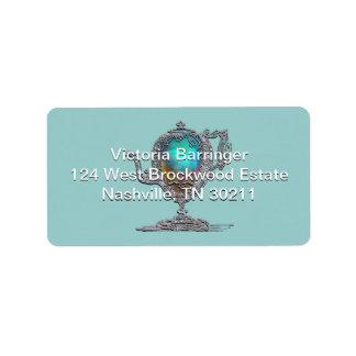Victorian Bridal Shower Tea Party Address Label