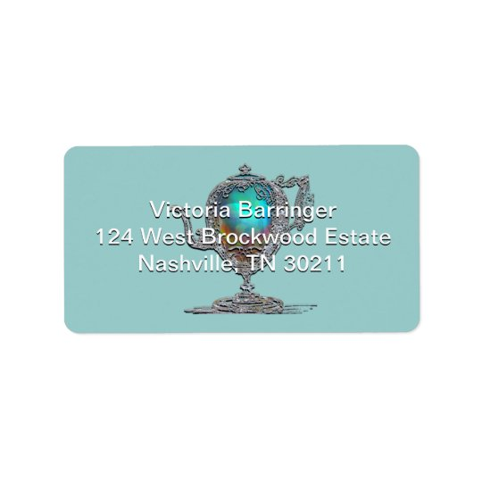 Victorian Bridal Shower Tea Party Address Label