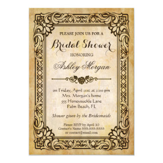 Victorian Bridal Shower - Vintage Antique Frame Card