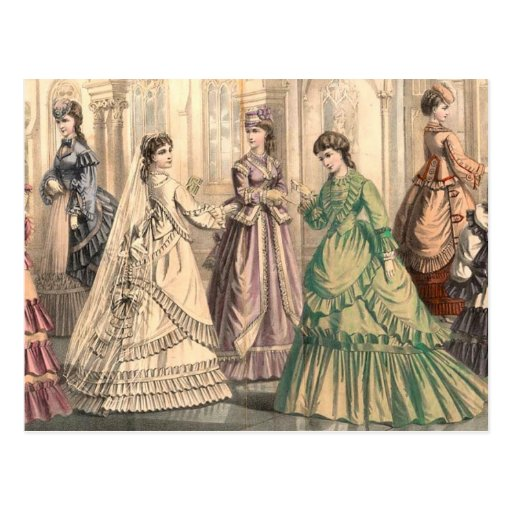 Victorian Bride and Attendants Postcards