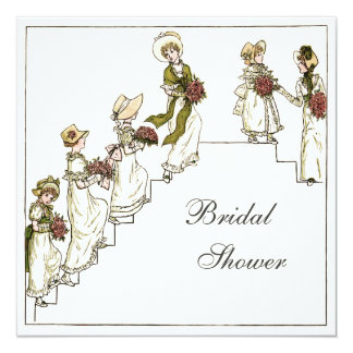 Victorian Bride and Bridesmaids Bridal Shower Card