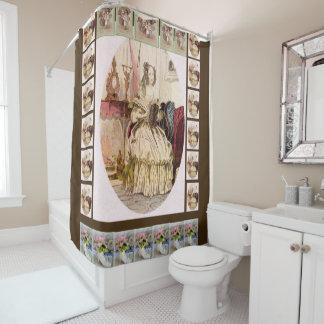 Victorian brown shower curtain