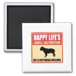 Victorian Bulldog Fridge Magnet