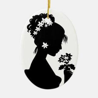 Victorian Cameo Silhouette Christmas Ornament