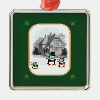 Victorian Caroling Penguins Ornament