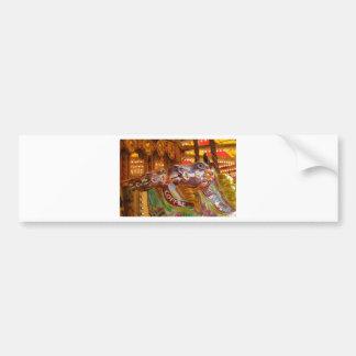 victorian carousel bumper sticker