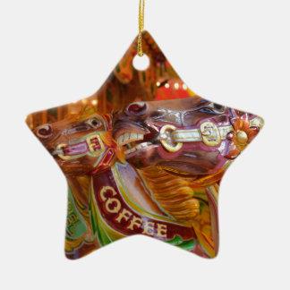 victorian carousel ceramic star decoration