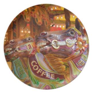victorian carousel plate