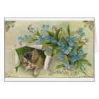 Victorian Cat Birthday Greeting Card