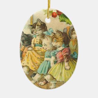 Victorian Cat Christmas Ornament