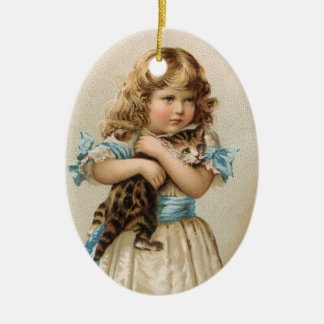 Victorian Cat Christmas Ornament