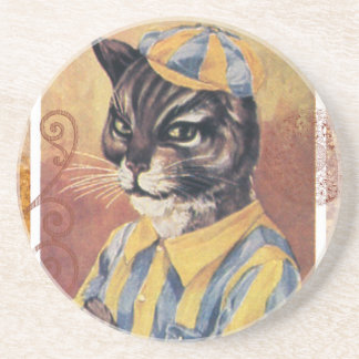 Victorian Cat Jockey Horse Racing Coaster