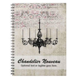 Victorian Chandelier Shabby Chic Vintage Damask Notebook