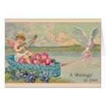 Victorian Cherub Valentine's Day Greeting Card