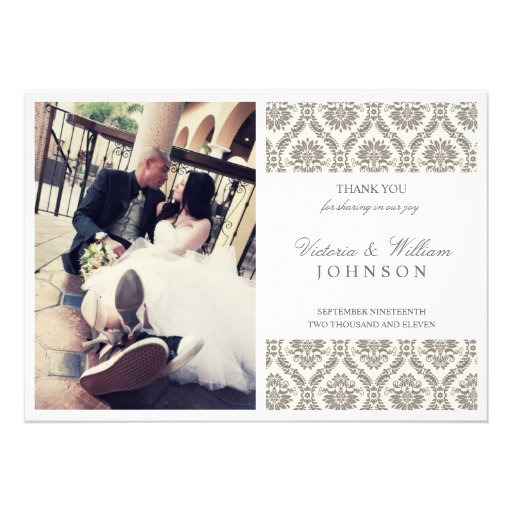 VICTORIAN CHIC | WEDDING THANK YOU CARD ANNOUNCEMENT